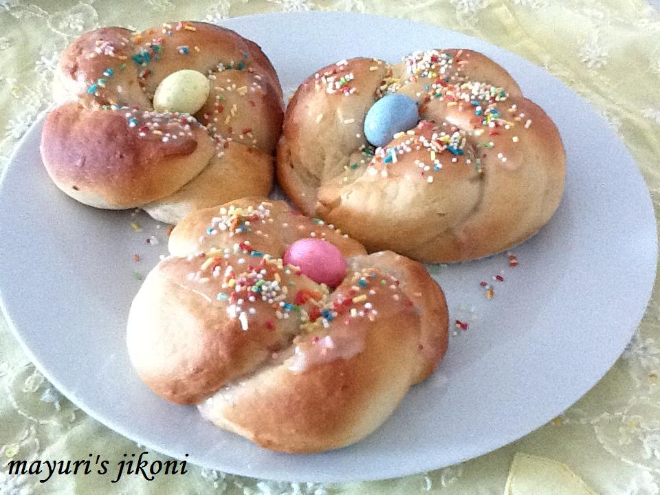Italian Easter Bread(eggless)